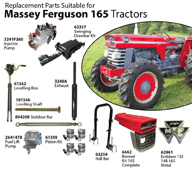 Massey Ferguson Tractor Parts Diagram Massey Ferguson 165 Sku21674