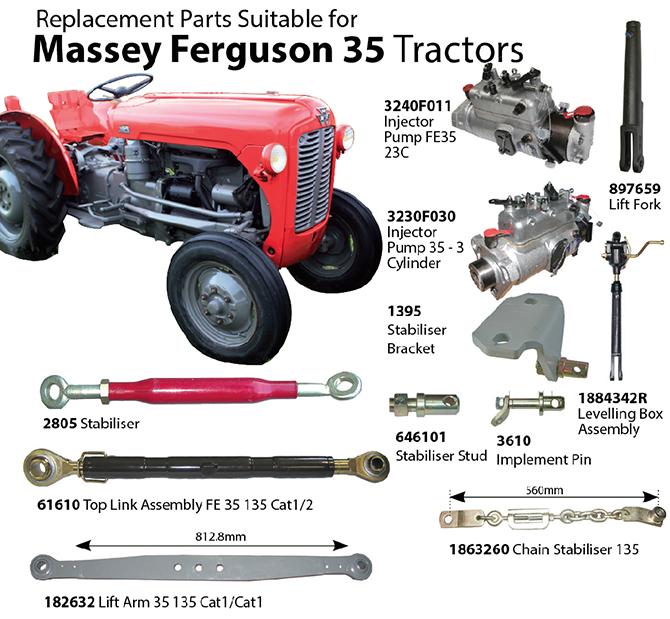 Massey Ferguson Repair Parts : Tarporley tractors massey ferguson replacement parts